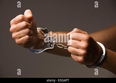Handcuffs , Handschellen - Stock Photo
