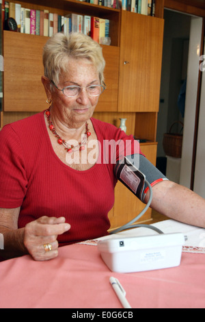 Blood pressure measure [], discomfort, blood pressure, sphygmomanometer, blood pressure reading, blood pressure - Stock Photo