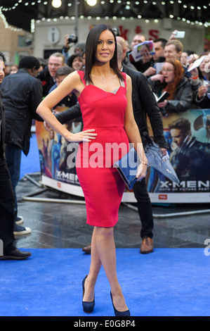 Linzi Stoppard attends the X-MEN: DAYS OF FUTURE PAST UK PREMIERE on 12/05/2014 at ODEON Leicester Square, London. - Stock Photo
