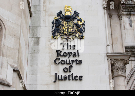 United Kingdom, London : A picture shows a general view GV of the Royal Courts of Justice in Central London. - Stock Photo