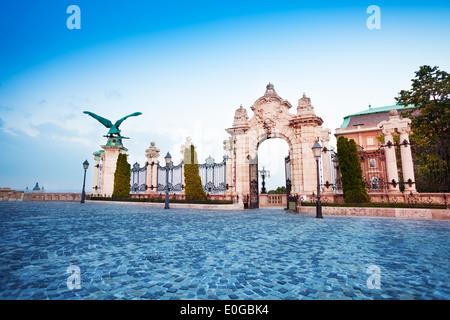Habsburg Gate in Budapest, Hungary - Stock Photo