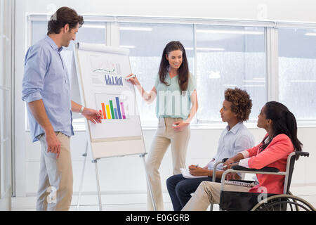 Attractive business team making presentation - Stock Photo