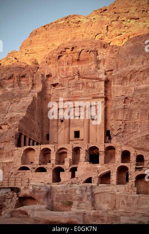 Urn Tomb, Royal Tombs at Petra, UNESCO world herritage, Wadi Musa, Jordan, Middle East, Asia - Stock Photo