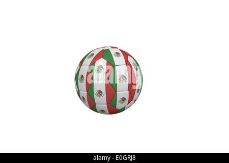 Football in mexico colours - Stock Photo