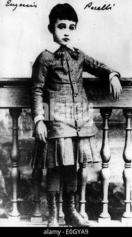 Portrait of Pope Pius XII as a boy in Italy - Stock Photo