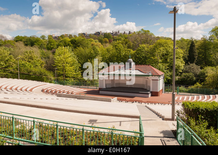 Newly refurbished Kelvingrove Bandstand, situated in Kelvingrove Park, Glasgow, Scotland, UK - Stock Photo