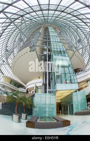 Qatar, Doha, The Torch Hotel interior - Stock Photo