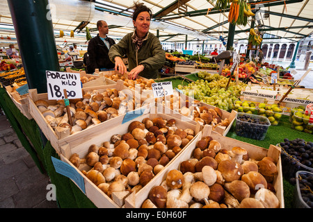 Market stand at the Grand Canal, Venice, Venetia, Italy, Europe - Stock Photo