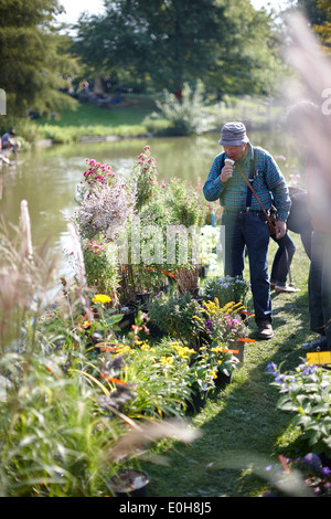 Visitor of the Botanical market in the Botanical Gardens, Klein Flottbeck, Hamburg, Germany - Stock Photo