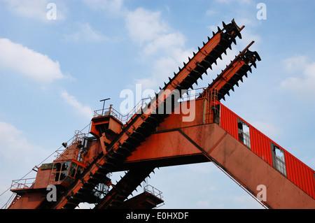Deutschland, Essen, Zeche Zollverein, UNESCO Welterbe, Germany, Essen, Zeche Zollverein Coal Mine Industrial Complex - Stock Photo
