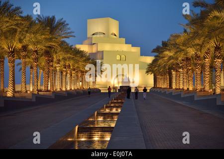 Doha. Qatar. Museum of Islamic Art designed by I.M.Pei. - Stock Photo