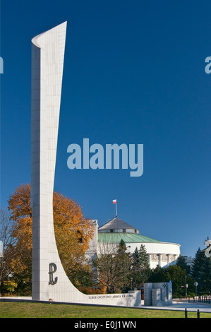 Home Army Monument in Warsaw, Poland - Stock Photo