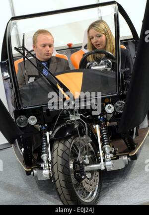 Chemnitz, Germany. 14th May, 2014. An electric concept car of the Institute of Chemnitz Machinery and Plant Manufacturers - Stock Photo