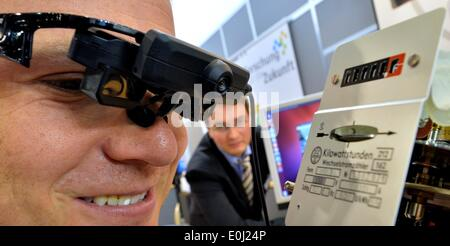 Chemnitz, Germany. 14th May, 2014. New data glasses for meter reading of the West Saxon University of Zwickau is - Stock Photo