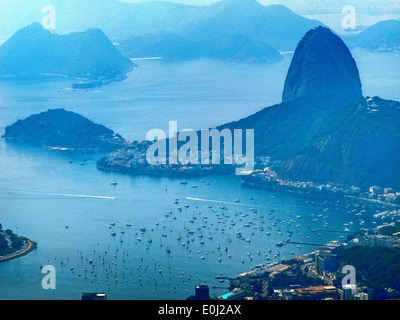 Sugarloaf Mountain, Rio de Janeiro. - Stock Photo