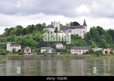 Ottensheim, Zámeček, castle on a hill above Ottensheim along the Danube River Austria.