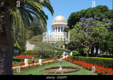 The Bahai Temple and Gardens, designed by Canadian architect William Sutherland Maxwell, and completed in 1953, - Stock Photo