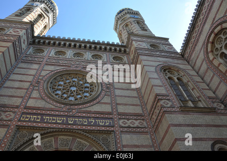Facade of the Dohany Street Synagogue, Budapest. - Stock Photo