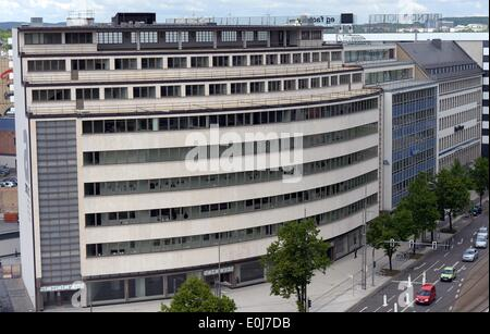 Chemnitz, Germany. 14th May, 2014. A view of the new State Museum of Archeology pictured a day before the official - Stock Photo