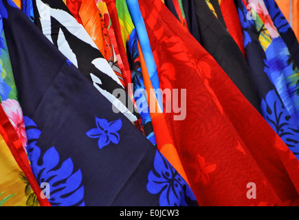 Colorful material in Mexico - Stock Photo