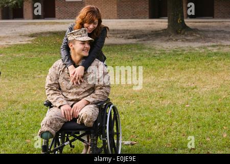 Lance Cpl. Matt Grashen, a rifleman with Fox Company, 2nd Battalion, 2nd Marine Regiment, and a Kenosha, Wis., native, - Stock Photo