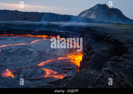 Erta Ale in Ethiopia - Stock Photo