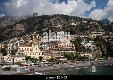 Positano on The Amalfi Coast, Italy - Stock Photo