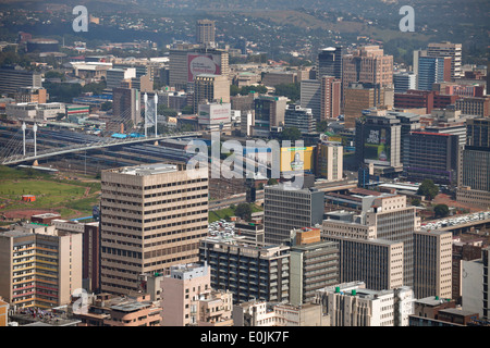 View of central Johannesburg and CBD from Carlton Center Johannesburg, Gauteng, South Africa, Africa - Stock Photo