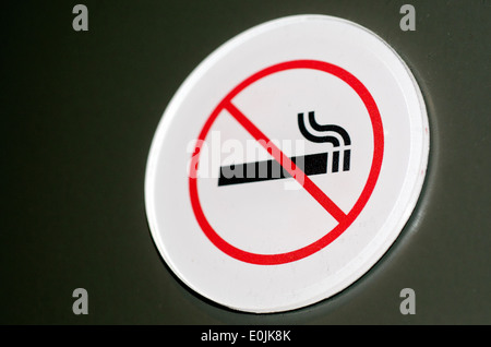 No smoking sign and symbol on a wall. - Stock Photo
