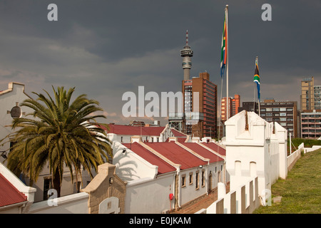 the old Fort on Constitution Hill in Johannesburg, Gauteng, South Africa, Africa - Stock Photo