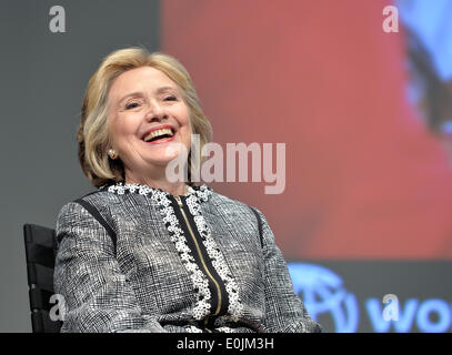 Washington DC, USA. 14th May, 2014. Former U.S. Secretary of State Hillary Clinton attends the launch ceremony of - Stock Photo