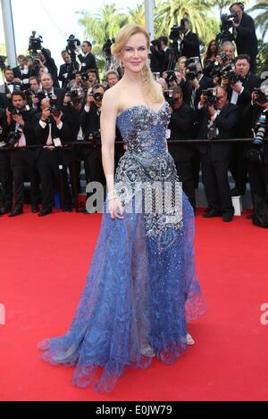 Cannes, France. 14th May, 2014. Australian actress Nicole Kidman arrives for the screening of the movie 'Grace of - Stock Photo