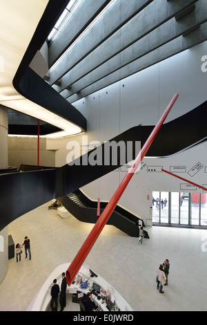 Rome. Italy. MAXXI National Museum of 21st Century Arts designed by Zaha Hadid in the Flaminio district. (Museo - Stock Photo