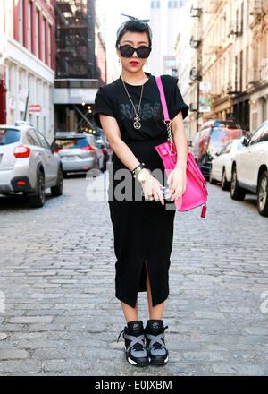 Candy Zong walking in New York City - May 12, 2014 - Photo: Runway Manhattan/Charles Eshelman - Stock Photo