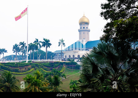 Istana Alam Shah, former residence of the former Sultan of Selangor Kuala Lumpur. Hazy from the forest fires in Indonesia. Stock Photo