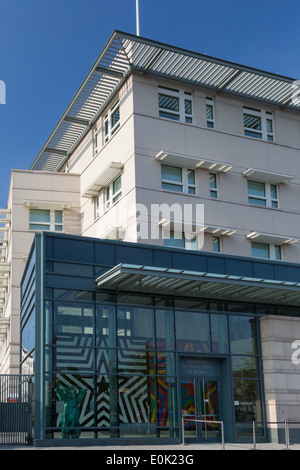 United States US of America Embassy building in Berlin, Germany - Stock Photo