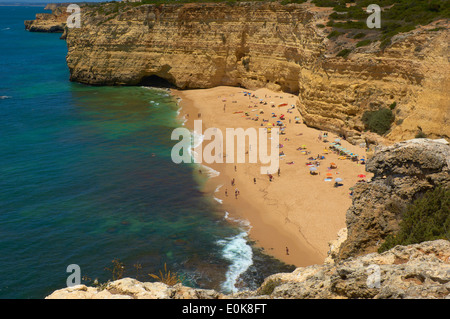 Centeanes Beach, Praia do Centeanes, Vale do Centeanes, Carvoeiro, Lagoa, Algarve, Portugal, Europe - Stock Photo