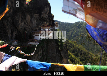 Paro Taktsang, tiger's nest paro monastery - Stock Photo
