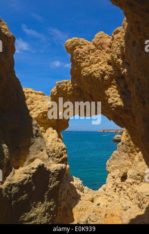 Algar Seco, Carvoeiro, Lagoa, Algarve, Portugal - Stock Photo
