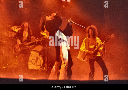 Queen live gig at The Rainbow London part of the Sheer Heart Attack Tour 17/11/1975 - Stock Photo