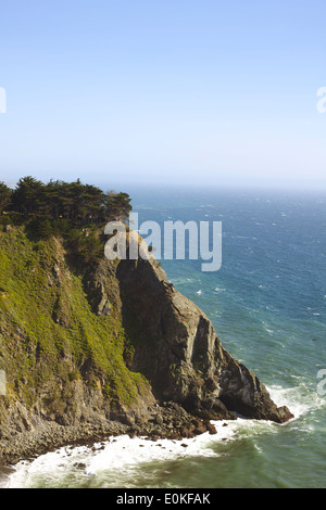 A view of the Cliffs on the coastline along Highway One in Big Sur, California. - Stock Photo