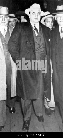Gangster Al Capone with Marshall Laubenheimer in New York - Stock Photo