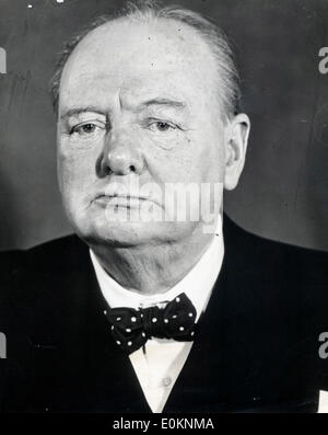 Prime Minister Sir Winston Churchill - Stock Photo
