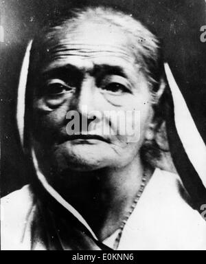 Portrait of Mahatma Ghandi's wife Kasturba Gandhi - Stock Photo