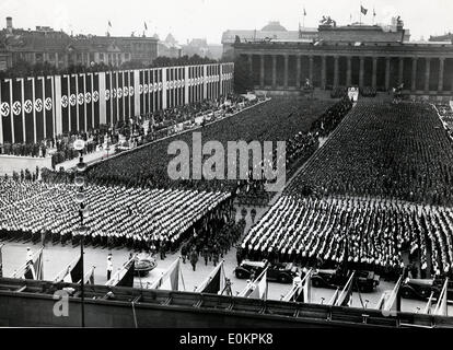 The opening ceremony of the XI Olympic Summer Games in Berlin - Stock Photo