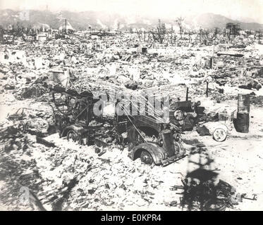 Hiroshima, Japan after atomic bombing - Stock Photo