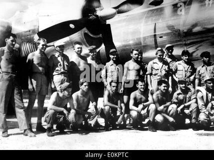 Aug. 01, 1945 - Tuman, Guam - File photo: circa August 1945. PAUL WARFIELD TIBBETS, JR. (February 23, 1915 ñ November - Stock Photo