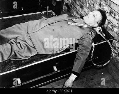 Arthur Seyss Inquart after his death - Stock Photo