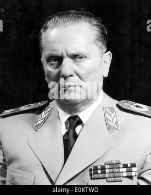 Close-up of Yugoslavia President Josip Tito - Stock Photo