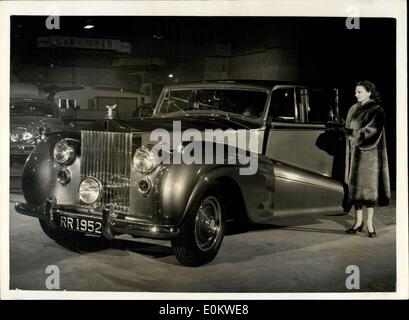 Oct. 16, 1951 - Press Preview of the Earl's Court Motor Show. The Rolls Royce ''Silver Wraith''... ?6,519...  Photo - Stock Photo